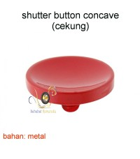 Soft Shutter Release Button Red (concave cekung)