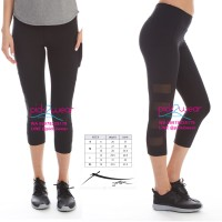 legging capri yoga zumba gym black mesh