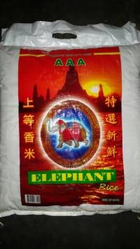 Beras Putih Thailand Nasi Pulen cap Elephant / Gajah 10kg