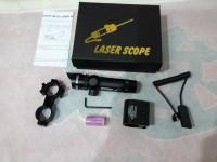 laser sope laserscope nyala hijau / green rifle laser pointer senapan