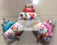 Balon Foil Mini Cake Mickey Minnie (mini size edition)