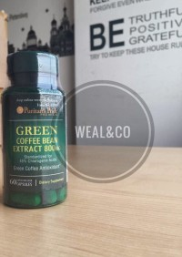 GREEN BEAN COFFEE EXTRACT PURITAN USA IMPOR 800 MG ISI 60