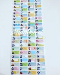 Label Nama Stiker Waterproof Sticker anti air Mobil Robocar Poli Robo