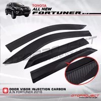Talang Air / Door Visior Slim Injection Carbon All New Fortuner Vrz