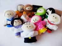 Boneka Jari Keluarga Muslim isi 10 by Rahmahandmade, finger doll story
