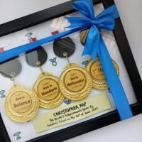 Custom Bingkai Pop Up Frame Medal Penghargaan Sertifikat