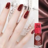 Deep Red (26) BK Peel Off Nail Polish Kutek Halal Water Based