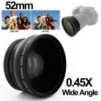 Lensa Wide Angle Lens with Macro 0.45X 52mm for Nikon