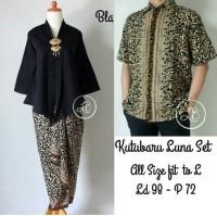 couple Batik Kebaya blouse rok lilit dan kemeja sarimpit