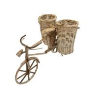 Kerajinan Tangan Rotan Natural - Sepeda Keranjang Kangkung Versi 2 P