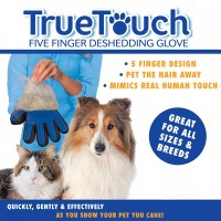 True Touch Pet Glove Sisir Anjing Kucing Grooming Sarung Tangan
