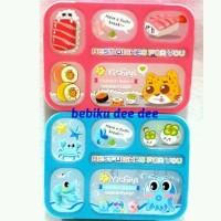 Lunch Box/Kotak Makan/Tempat Makan Sekat 5in1/Grid Box Anak BPA FREE