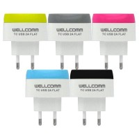Wellcomm Travel Charger Flat 2 Ampere - ATCMCU2AFW
