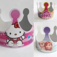 Topi mahkota | topi karakter | topi ultah | souvenir pesta