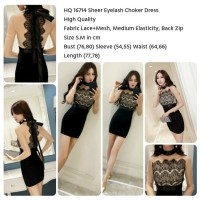Sheer Eyelash Choker Dress (Size S.M)