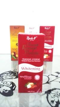 RESIK-V KHASIAT ramuan madura + whitening 50ML / dus merah