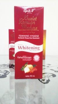 RESIK-V KHASIAT ramuan madura + whitening 90ML / dus merah