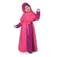 Gamis Anak Perempuan Balotelli Pita Murah Cantik - Pink ABP01