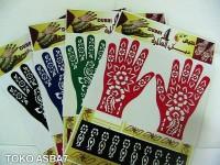 Cetakan tangan/Stiker Henna Tangan