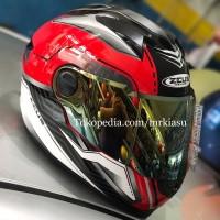 Paket3in1 ZEUS 811 red silver black white helm fullface IRON MAN M L X