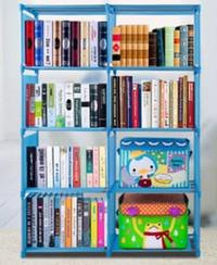 Rak buku rak portable rak serbaguna lemari buku 2 sisi murah - HPR081