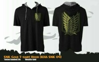 Kaos Anime SNK Gold T-Shirt Hood L. Pendek (Kaos Hoodie - KHA SNK 04)