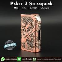 Paket Siap Ngebul 3 Tesla Steampunk Nano Mod 120W [100% Authentic]