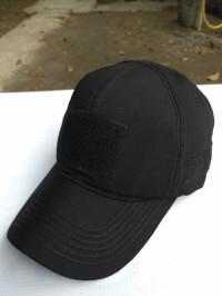 topi velcro hitam polos - topi army - topi molay tactical