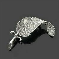 Bros dagu jilbab / hijab daun silver mini