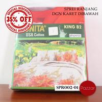 Jual Sprei Monita dengan karet - Murah Disc.35% - SPR002