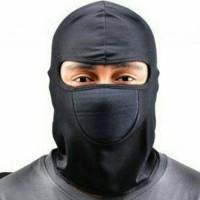 masker ninja motif tengkorak dan hitam polos