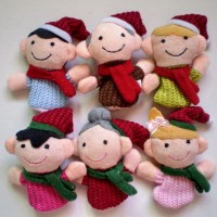 Set 6 pcs Boneka Jari Natal Keluarga Christmas Family