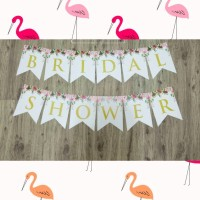 Banner Bridal Shower/ Bunting Flag Bridal Shower/ Dekorasi Bride To Be