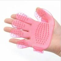 sisir mandi anjing sikat kucing garuk hewan model telapak tangan pink