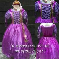 Rapunzel Premium Karet - Dress Princess Anak