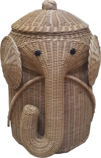 Tilavie keranjang Laundry  Gajah Coklat- Anyaman Rotan