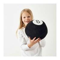 IKEA BOLLSINNE Boneka bola bilyard, hitam, 22cm