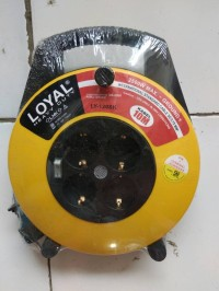 Kabel roll/ stop kontak Heavy duty 10 m Loyal