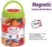 Mainan edukasi - huruf dan angka magnet - magnetic alfabet