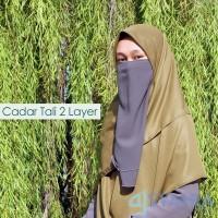 Grosir Niqab Cadar Tali 2 Layer Premium