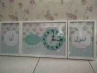 Hiasan dinding kaligrafi custom untuk kado pernikahan shabby flower