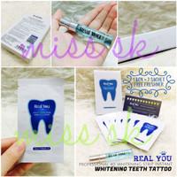 Supplier [ SACHET ] Real You Stiker Stiker Tato Gigi - Pemutih Gigi