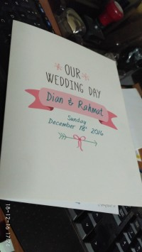 Undangan Pernikahan Vintage Softcover - Dian & Rahmat