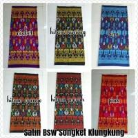 Kain Satin Bsw Motif Songket Klungkung Bali Meteran