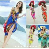 Baju Renang Pakaian Pantai Penutup Bikini Wanita Bahan Sifon import