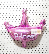 Balon Foil Crown/Mahkota Princess MINI Size