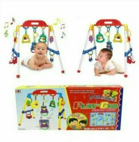 BRG-160008 mainan baby MUSICAL playgym / anak baby rattle play gym