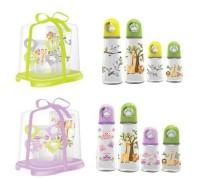 Baby Safe Rack Bottle Set isi4botol/Rak botol susu set