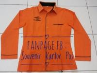 Seragam Kantor Pos Warna Orange (Cewek) Panjang - Ukuran S, M, L
