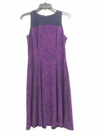 Baju Branded Wanita Murah Purple Flowery Swing Dress Branded Dress Ori